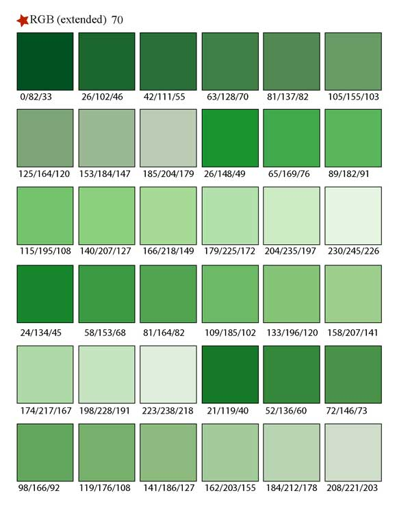 Printable rgb color palette swatches my practical skills - Soft lime green paint color ...