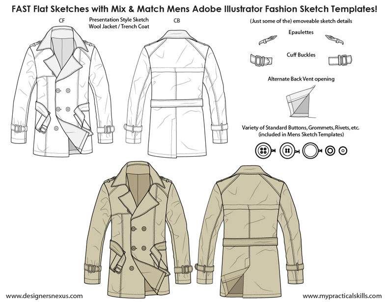 mens flat fashion sketch templates - my practical skills | my, Presentation templates