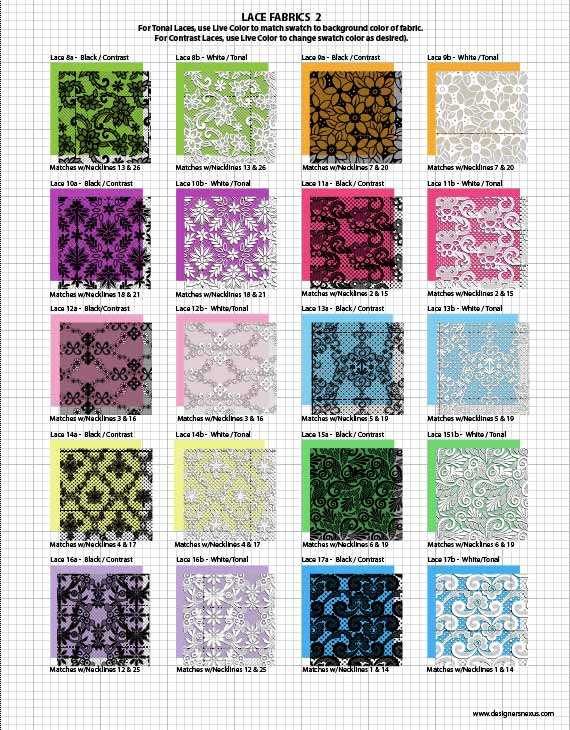 Vector Fabric Swatches Fashion Embellishments My Practical Skills My Practical Skills